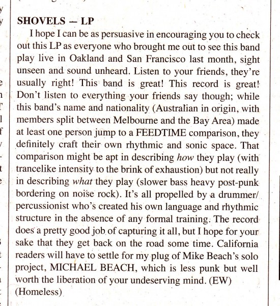 Shovels MRR #387 review, Aug 2015